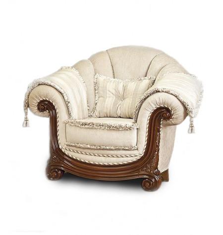 Fotoliu din lemn masiv si tapitat elegant, luxos si comod MRFC-10