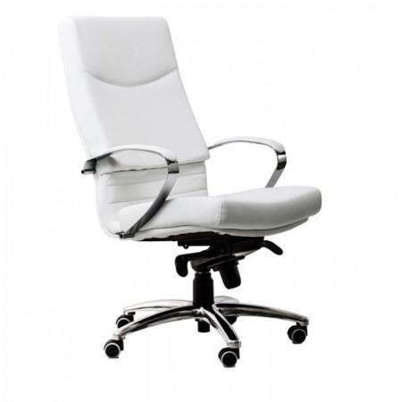 Scaun ergonomic ecopiele pentru birou Alb SSB-6