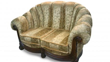 Canapea cu 2 locuri din lemn masiv MRFC-1
