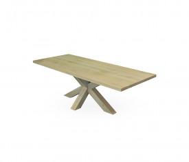 Masa fixa din stejar cu picioare din lemn tip paianjen MAMF-14