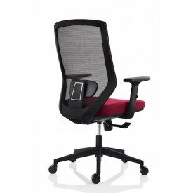 Scaun ergonomic pentru birou, bordo SSB-14