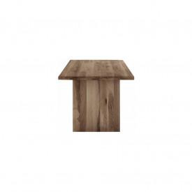 Masa fixa cu picioare late si blat din lemn masiv MAMF-2
