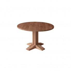 Masa rotunda din lemn masiv cu un singur picior in mijloc MAMR-9