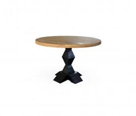 Masa rotunda inspirata de Brancusi din lemn masiv MAMR-2