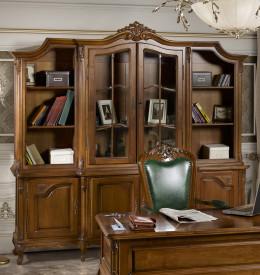 Biblioteca clasica din lemn masiv in 2 usi MDBI-1