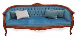 Canapea cu 3 locuri din lemn masiv MRFC-6