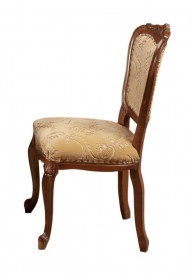 Scaun din lemn masiv de fag si tei, sculptat si tapitat elegant SSA-10