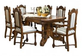 Masa extensibila din lemn masiv lucrat manual (270-360 cm x 100 cm) MAME-23