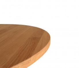 Masa rotunda din lemn masiv si picior strunjit MAMR-3