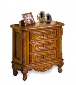 Noptiera Rococo cu ornamente lucrate manual MDNO-9