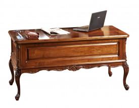 Masa birou din lemn masiv cu insertii de furnir MBMB-7