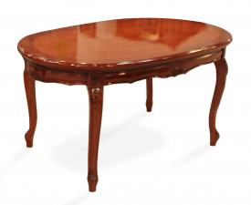 Masuta ovala din lemn masiv cu picioare sculptate MAMC-15