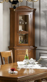Bufet-vitrina colt elegant din lemn masiv MDBU-59