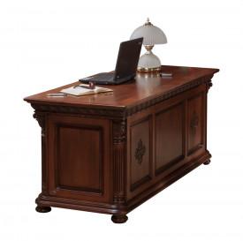 Masa birou din lemn masiv cu insertii de furnir MBMB-8