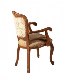 Scaun cu brat din lemn masiv in stil Ludovic SSA-11