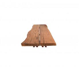Masa fixa cu blat de 9cm, cu laturile curbate natural si picioare din fonta MAMF-10