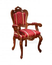 Scaun cu brat, din lemn masiv, sculptat, elegant, Lux SSA-23