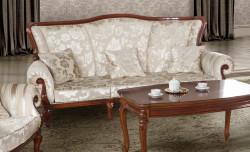 Canapea cu 3 locuri din lemn masiv MRFC-2