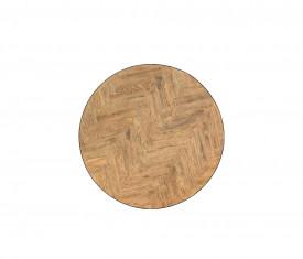 Masa rotunda cu blat din parchet si cu picioare metalice MAMR-7