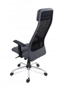 Scaun ergonomic operational pentru birou cu spatar inalt, gri SSB-21