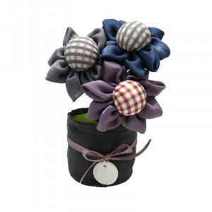 3 flori textile parfumate - carbune activ bambus