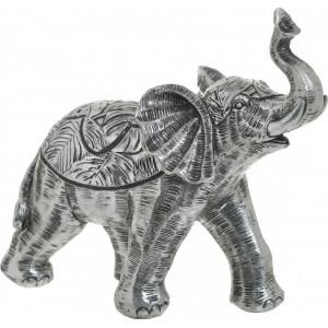 Decoratiune Silver Elephant, Charisma, Rasina, 20Χ8Χ19