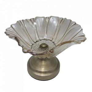 Fructiera Flower Glass, Charisma, Sticla&Metal, 18x15