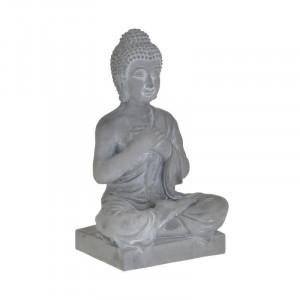 Statueta Grey Buddha, Charisma, Ciment 16Χ12Χ27