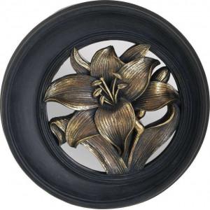 DECOR PERETE RASINA FLOWER BLACK/GOLD DD25X5