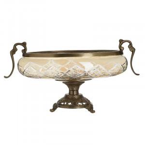Fructiera Amber Glass, Charisma, Sticla&Metal, 40Χ20Χ22