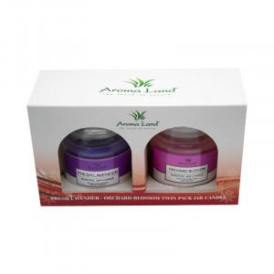 Set 2 lumanari decorative, Lavender&Orchard blossom, 20h
