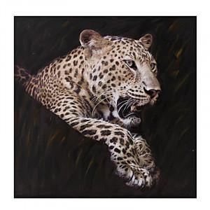 Tablou canvas Roaring Leopard, Charisma, 100Χ3Χ100