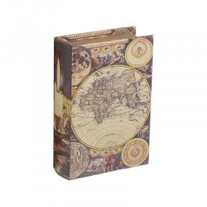 Caseta decorativa Atlas Book, Charisma, Lemn, 19Χ7Χ27