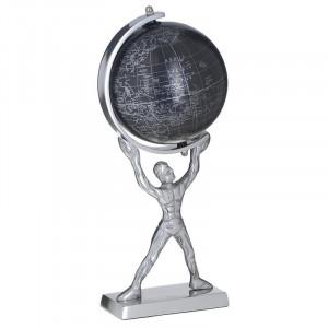 Decoratiune Glob Atlas, Metal, Charisma, 13X16X33