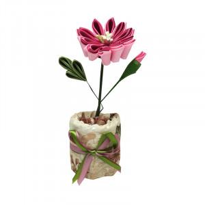 Floare roz parfumata - carbune activ bambus