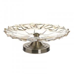 Fructiera Golden Glass, Charisma, Sticla&Metal, 33x13
