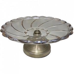Fructiera Spiral Glass, Charisma, Sticla&Metal, D34x14