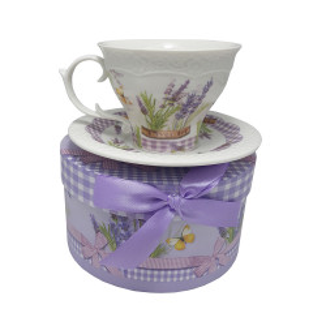 Set cafea 1 persoana Lavender, Charisma, Portelan, 150 ml