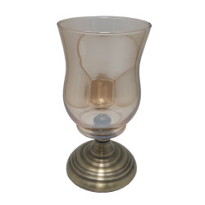 Suport lumanare Glamour Candlelight, Sticla&Metal, Charisma, D10x20