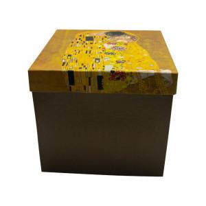 Ceainic cu ceasca Klimt, Portelan, Charisma, 270 ml