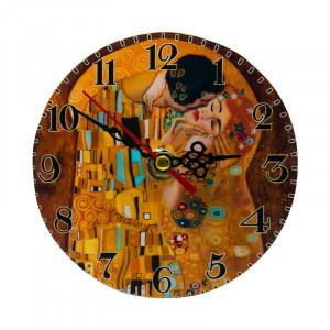 Ceas de masa Klimt, Lemn, Charisma, D12 cm