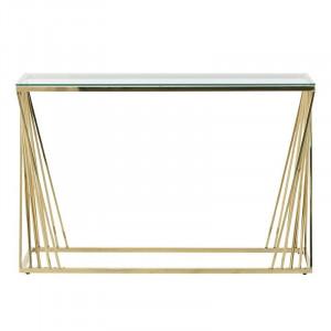 Consola Golden Glamour, Metal&Sticla, Charisma, 120X40X78
