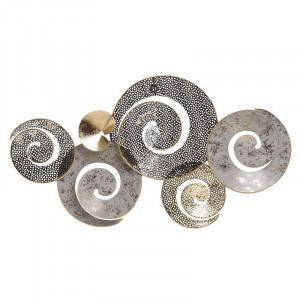 Decoratiune de perete Spirals, Metal, 67x5x36