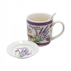 Set 2 cani Lavender, Portelan, 300 ml