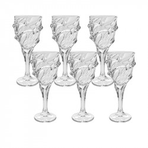 Set 6 Pahare Vin Rosu Calypso, Cristal Bohemia, 320 ml