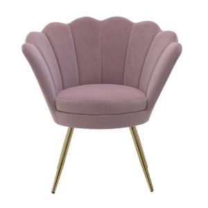 Fotoliu Pink Shell, Lemn&Catifea, Charisma 76X60X80/45