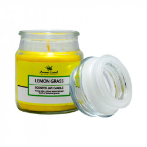 Lumanare decorativa borcan, Lemon Grass, 20h