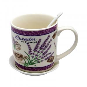 Set 2 cani Lavender, Portelan, 300 ml