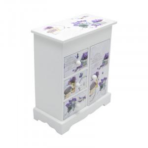 Caseta Bijuterii Lavender Wardrobe, Lemn, Charisma, 10.5x7x18