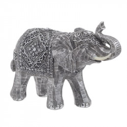 Decoratiune rasina Grey Elephant, 28x11x21